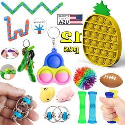 12 PACK Sensory Fidget Toys Set Baby Simple Dimple Autism AD