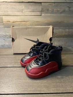 1996 Nike Air Jordan XII 12 sz 4c Flu Game Bred Baby Toddler