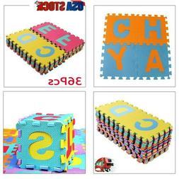 36x Alphabet Numbers Soft EVA Floor Play Mat Baby Room ABC F
