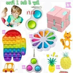 6Pack Baby Simple Dimple Figet Toys Set Sensory Bundle Tools