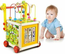 7 in 1 Wooden Toys Kids Learning Educational Toy Bead Maze A