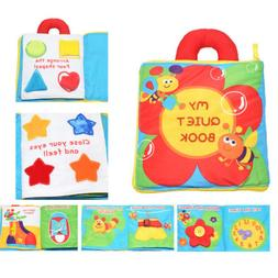 Baby Toddler Colorful Tearproof 3D Activity Game Cloth Book