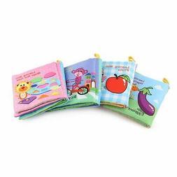 Baby Shower Bath English Cartoon Animal Cloth Book Early Edu