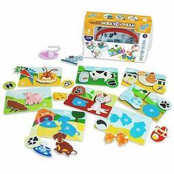 Educational Toddler Baby Matching Preschool Game Animal Reco