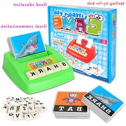 Kids English Spelling Alphabet Letter Game Cards Early Learn