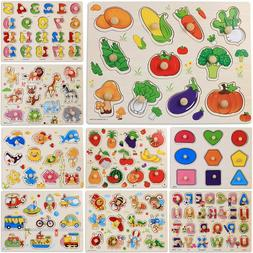 Kids Wooden Puzzle Baby Toddler Jigsaw Montessori Educationa