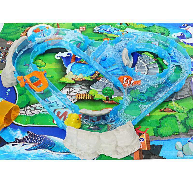 Safe Colorfull Ocean Track Children's Playground Parenting F