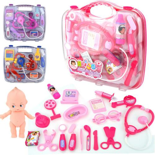 Doctor Pretend Play Medical Kit Suitcase Box Role Game Educa