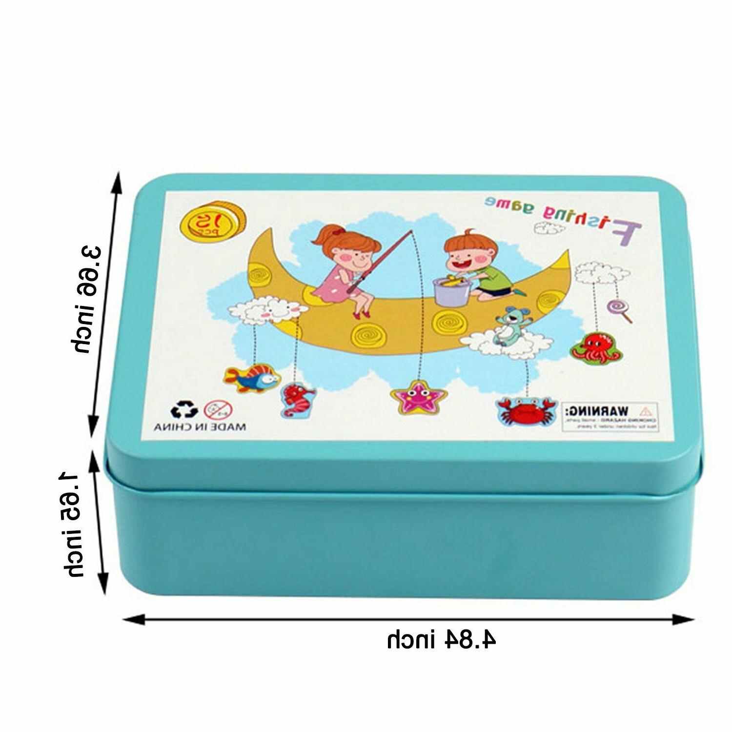 Fishing Toys Puzzle Game Wooden Box