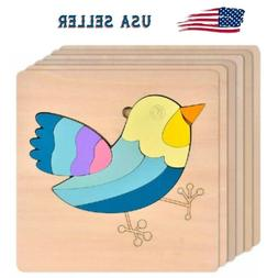 Puzzle Jigsaw Baby Kid Wooden Toy Learn Educational Fun Game