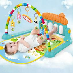 Toddler Baby Kids Game Music Pedal Piano Music Fitness Rack