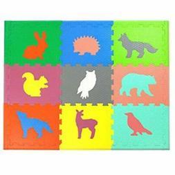 Woodland Baby Gyms & Playmats Animals Mat Non Toxic Crawl Wi